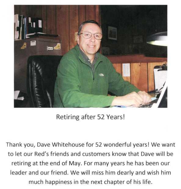 Dave Retirement  Notice