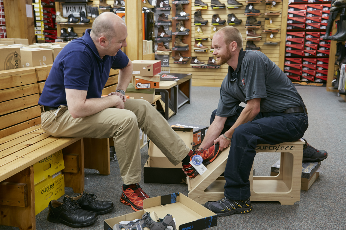 Reds Dover mens shoe fitting