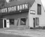 Red's Shoe Barn in 1962